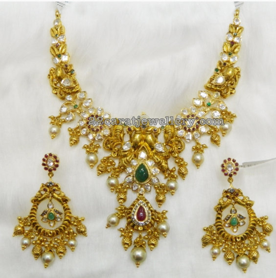 150gms Pachi Necklace Chandbalis