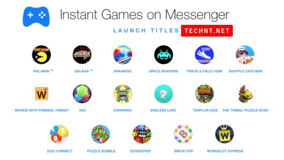 أصبح الآن بإمكانك تحدي أصدقائك مباشرة على فيسبوك مسنجر - 17 لعبة متاحة - التقنية نت - TECHNT.NET