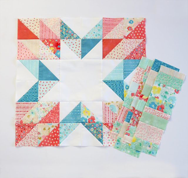 Quilt blocks for the Charming Baby Sew Along with the Fat Quarter Shop - pattern from the Charming Baby Quilts book by Melissa Corry