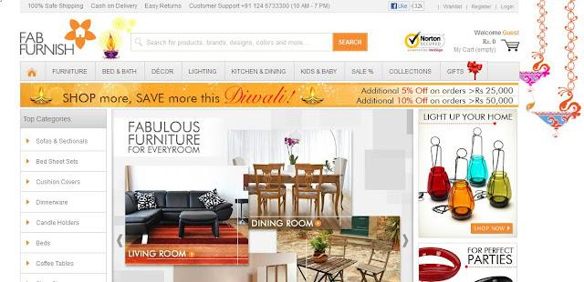 home decor shopping in india fabfurnish com to buy diwali gifts