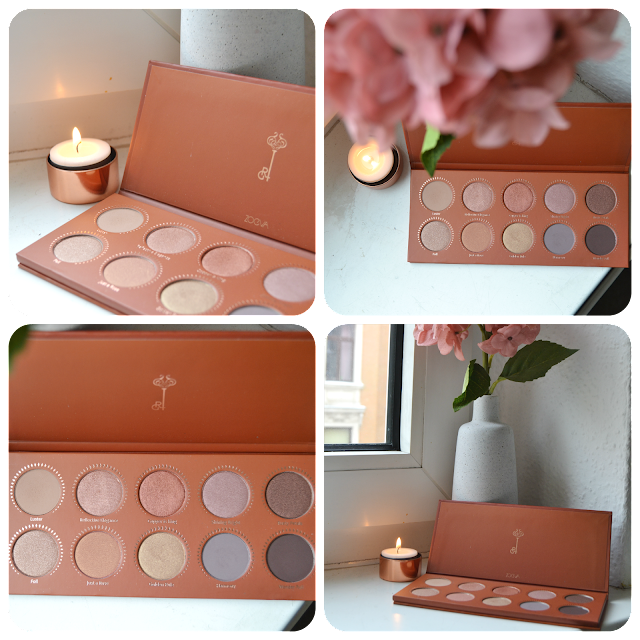 Zoeva, Rose Golden Palette, eye Palette, Rose Golden, Eyeshadow, Swatch