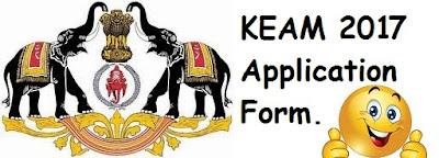 KEAM 2017 Application Form, Kerala CEE Online Notification 2017