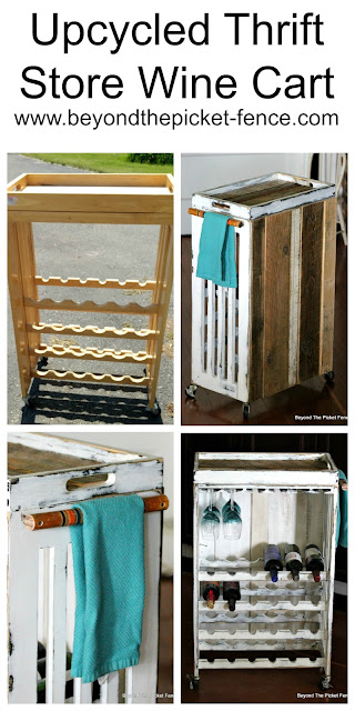 Upcycled Thrift Store Wine Cart