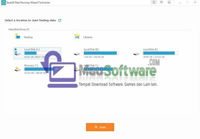 software utilitas dari easeus yaitu data recovery wizard dapat mengembalikan data yang hilang pada komputer, laptop, flashdisk, hardisk dengan mudah