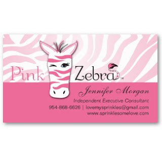 The Business Cards Have Pink Zebra Logo Home Fragrance Products Company Incorporated With Our Background Design And Template Layout