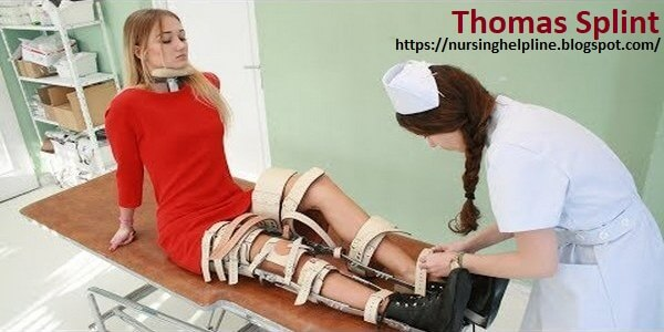 Thomas splint in orthopedics