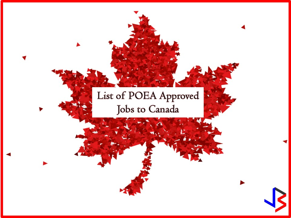The following are a list of jobs orders approved by the Philippine Overseas Employment Administration (POEA) to Canada. This is the latest job orders to Canada where you can apply this last quarter of 2018. Canada is particularly looking for the following; caregiver, industrial meat cutter, engineering technician, housekeeper, farm worker, butcher and many more.  Jbsolis.net is NOT a recruitment agency and does NOT process nor accept applications for jobs abroad.  All information in this article is taken from the website of POEA — www.poea.gov.ph for general purposes only. Interested applicant may double-check the job orders as well as the licensed of the hiring recruitment agencies in POEA website to erase the doubt and make sure everything is legal.