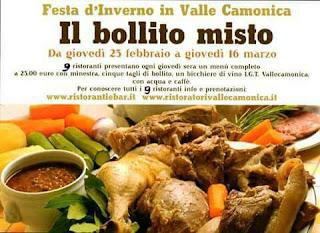 Il Bollito Misto dal 25 febbraio al 16 marzo Valle Camonica (BS)