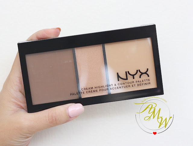 a photo of How to Use NYX Cream Highlight & Contour Palette Medium + Review