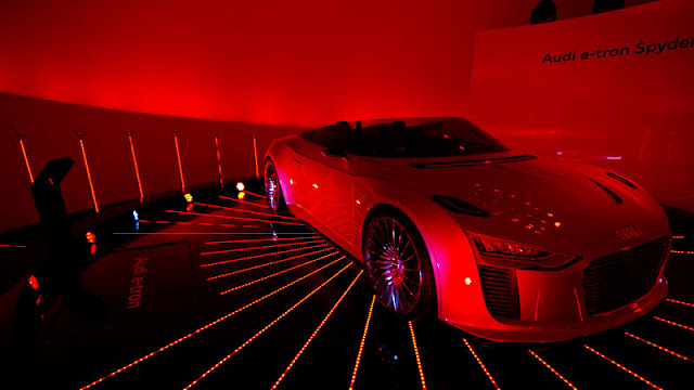 Modern car in the Audi Sphere pavilion