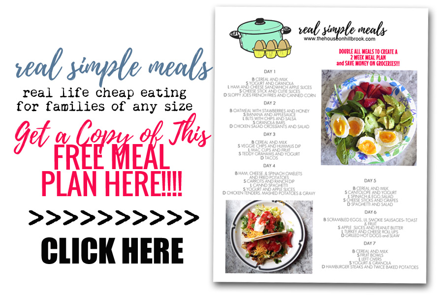 simple meal plan large family meal plan cheap groceries