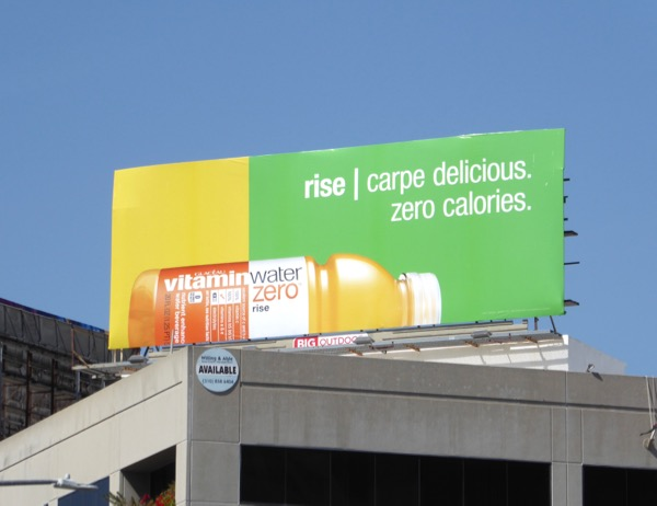 Vitamin Water Rise Carpe delicious billboard