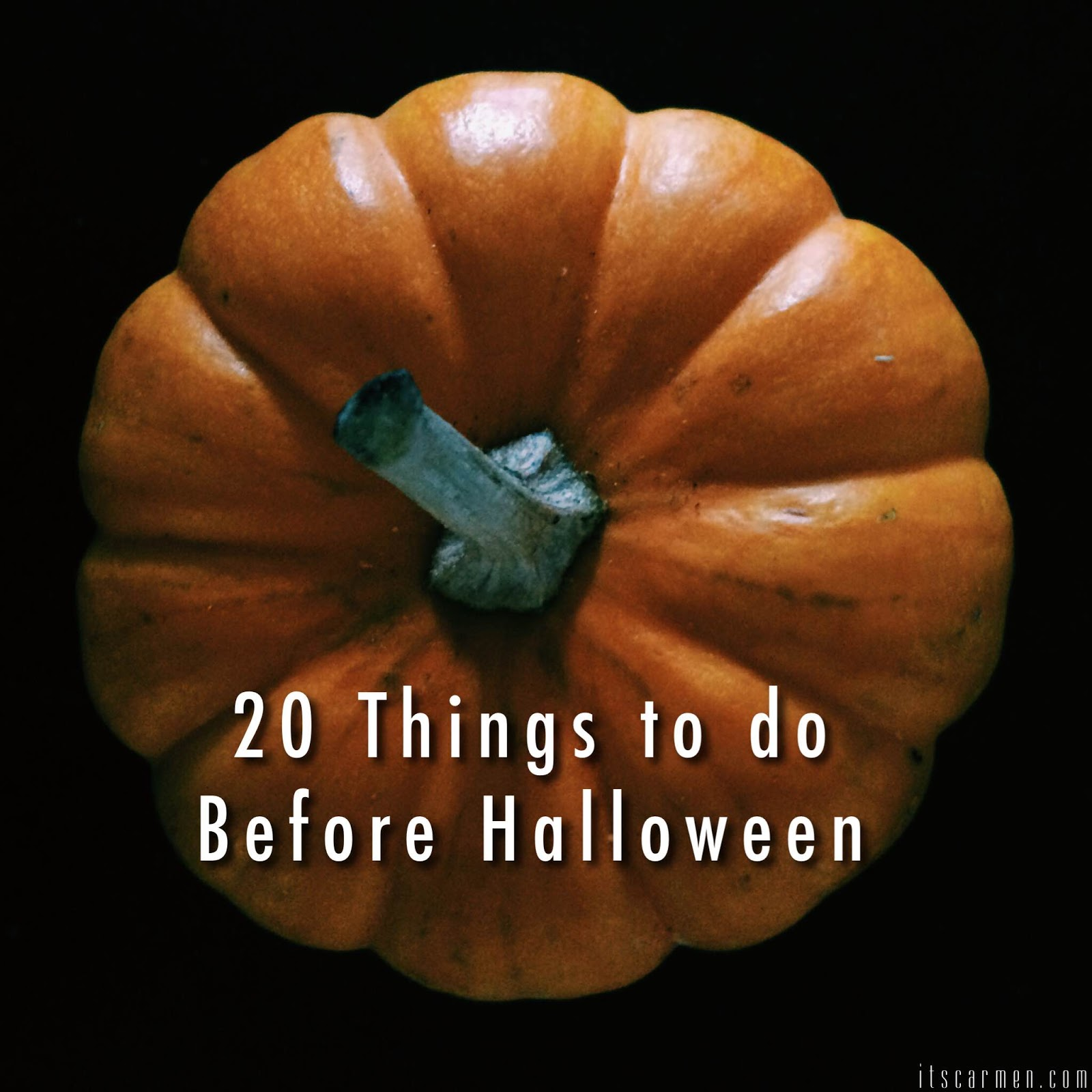 things to do before halloween