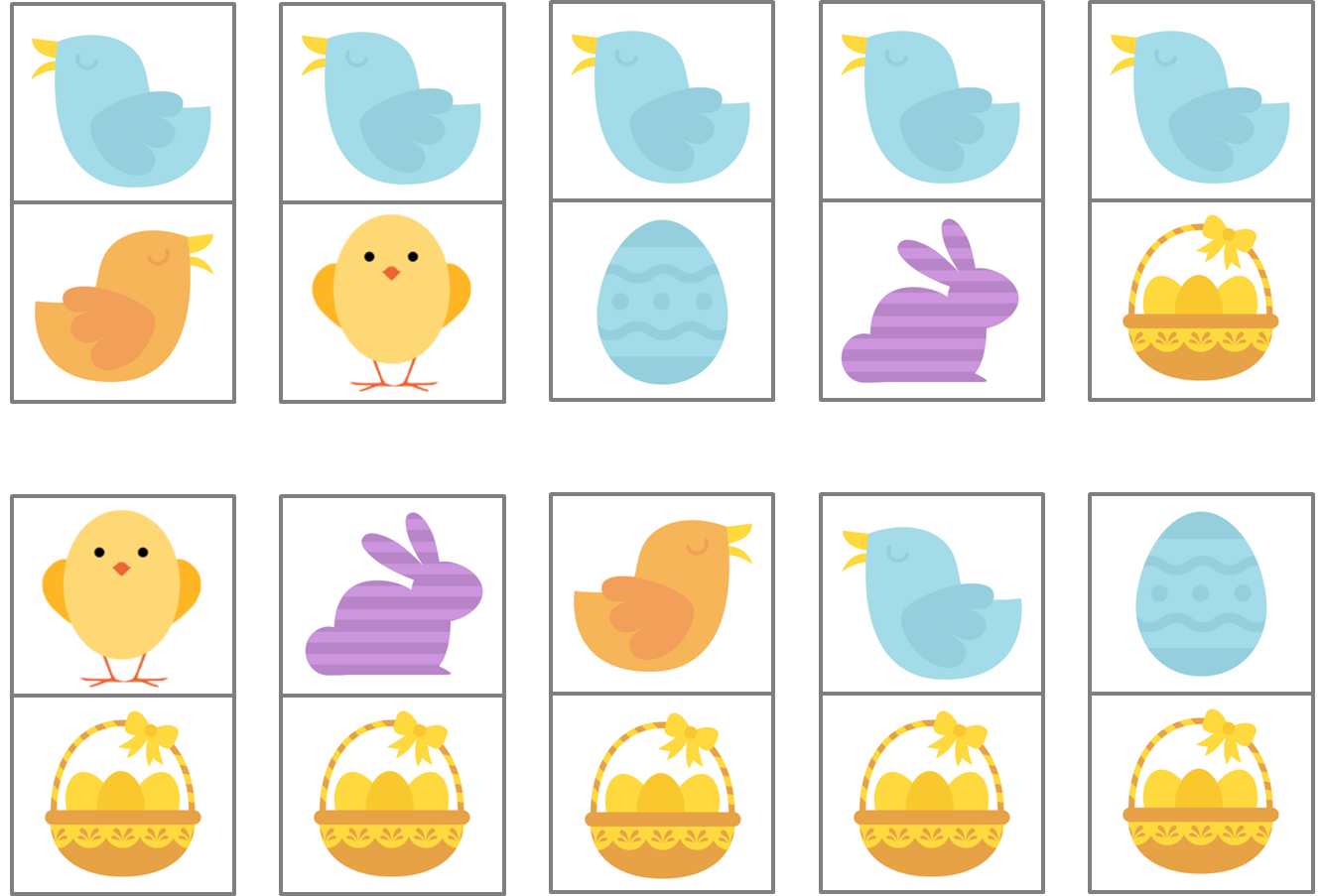 Easter Dominoes - free printable