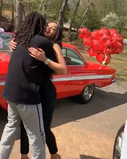 Quavo gets apple red 1961 Chevy Impala from Saweetie as his surprised birthday gift.