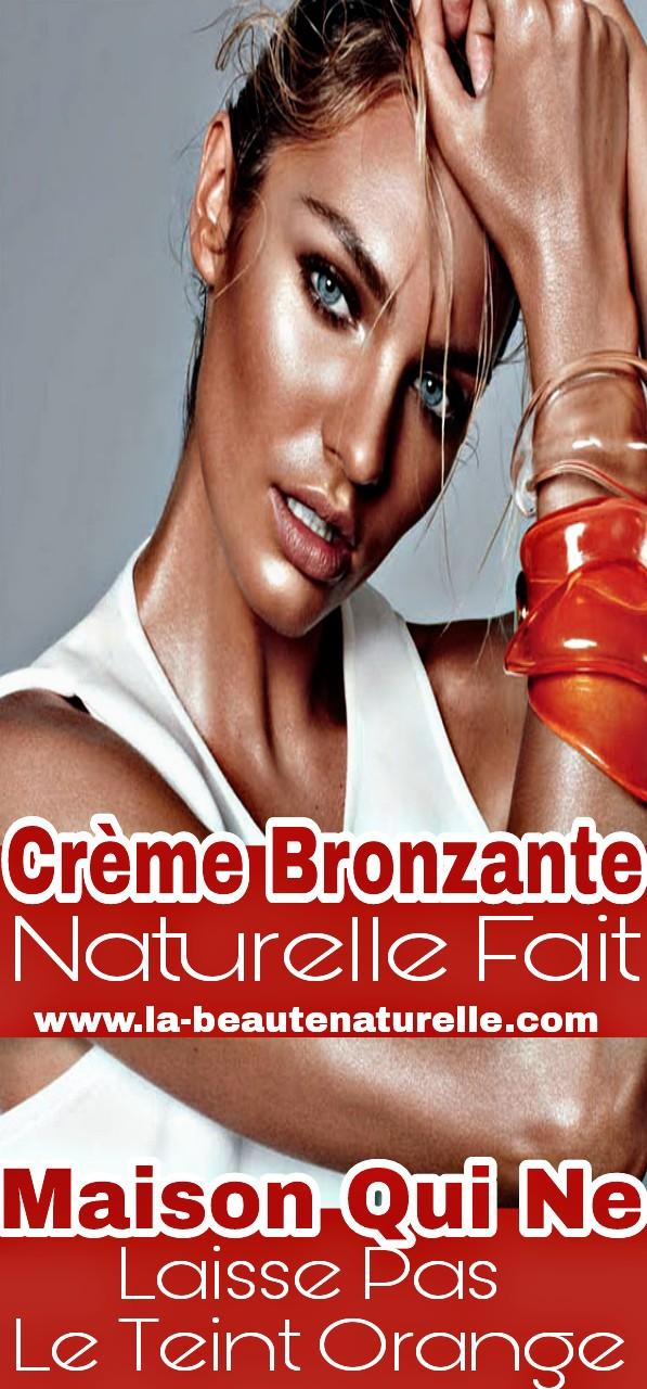 Crème bronzante naturelle fait maison qui ne laisse pas le teint orange