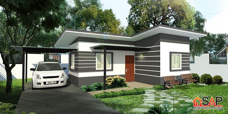 There are two most important things to consider when building a house. One is the affordability and the other is the comfortability. Of course, we love a house that is very comfortable to all of us, but this criterion is not often meet due to rising cost of construction material and labor cost nowadays. In spite of this, there are some house designs that can give us both the comfort and affordability. Just like this project houses from Asap Home Builders in Thailand. These houses come with two-bedrooms, shared bathroom, kitchen, and living area — the basic needs of a family. Prices are estimated in Thailand current the Baht and being converted into Philippine pesos.