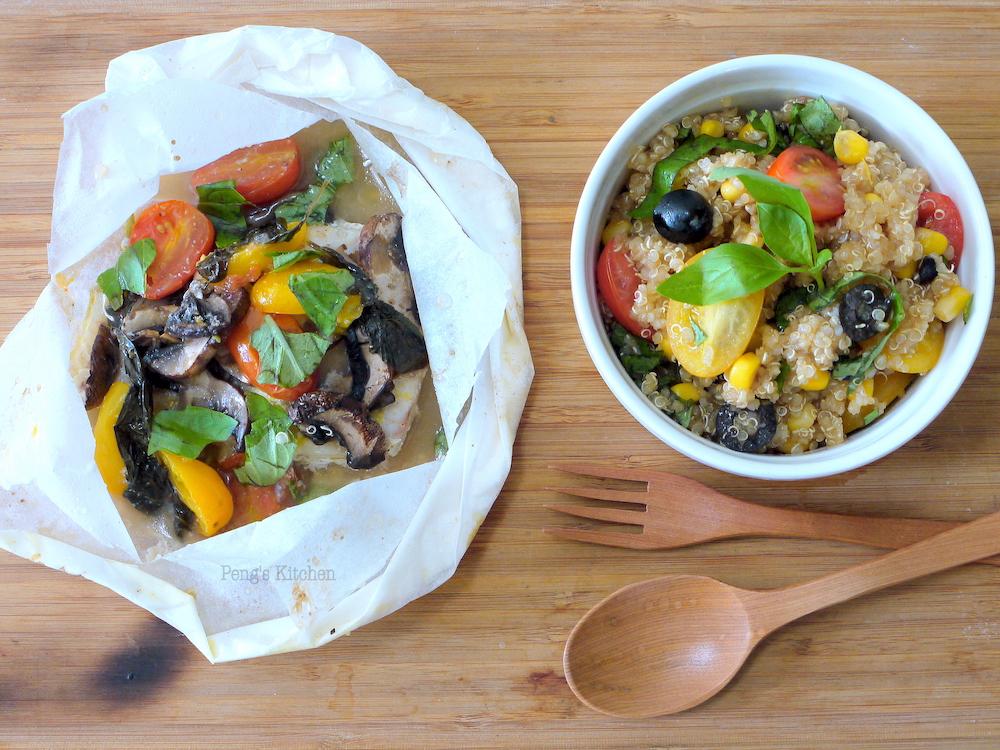 Peng S Kitchen Mediterranean Baked Fish Quinoa Salad