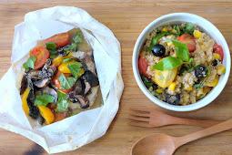 Mediterranean Baked Fish & Quinoa Salad
