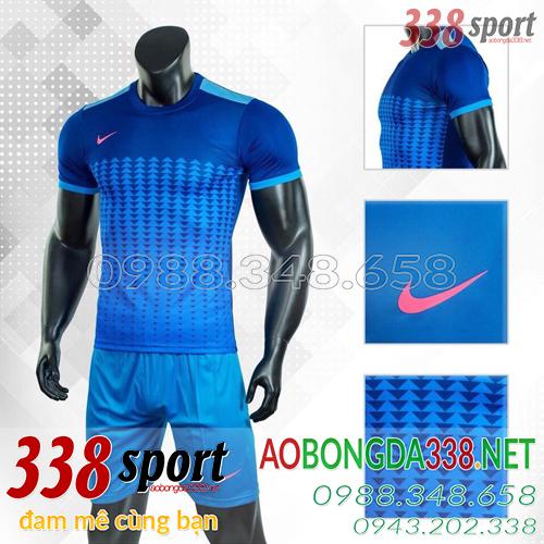Áo Bóng Đá Không Logo Đẹp Nike Aro Xanh Đậm