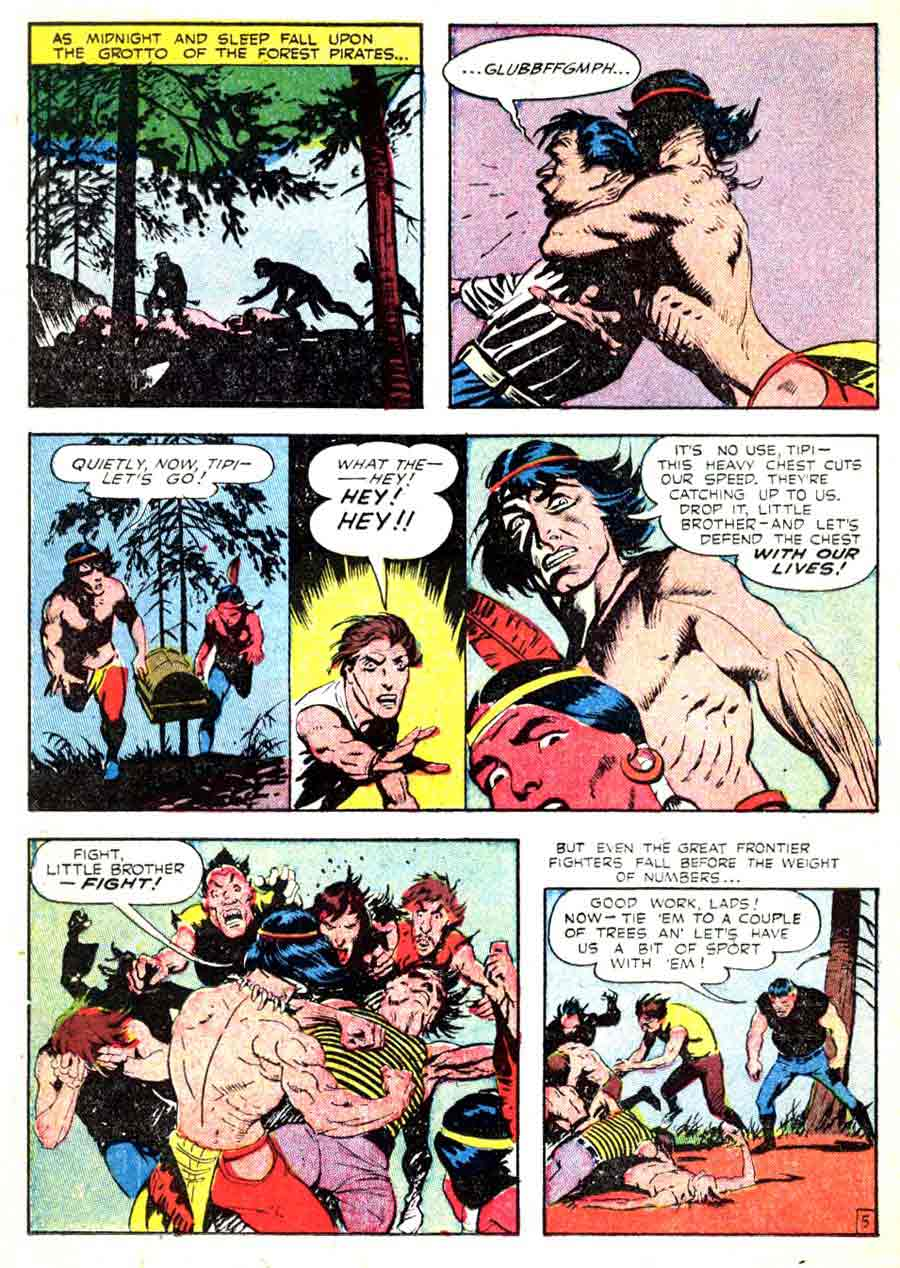 Frank Frazetta 1950s golden age western comic book page / Durango Kid #16