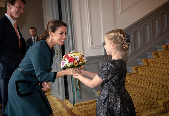 Princess Marie wore Goat Fashion Garcia Tunic Dress and Jimmy Choo 'Romy' black suede pumps. black clutch bag, Goat 2019 fall winter collection