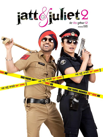 Poster Of Jatt & Juliet 2 In Hindi Dubbed 300MB Compressed Small Size Pc Movie Free Download Only At worldfree4u.com