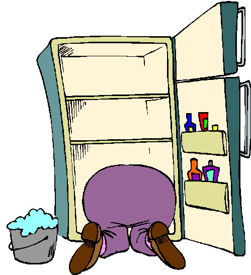 cleaning fridge clipart - photo #2