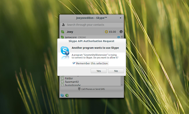 Skype Integration GNOME Shell Extension Puts Key Features Within