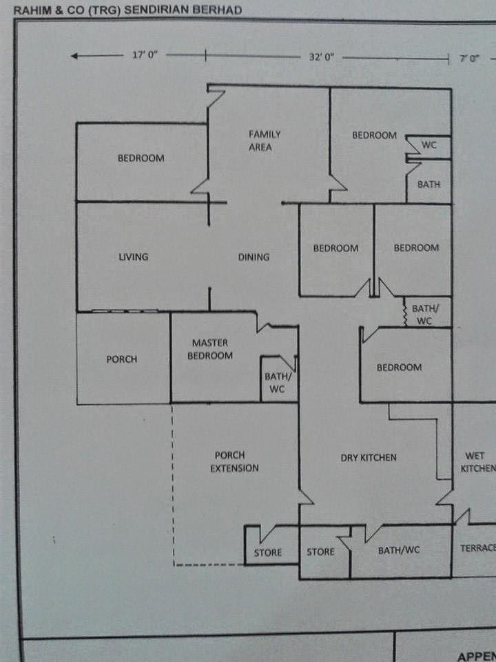 Ruang Tamu Keluarga Dan Dapur Luas