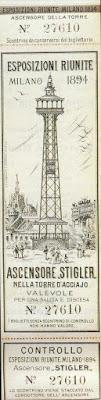 esposizioni riunite 1894 stigler torre ascensore milano