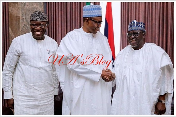 Ekiti election: Buhari meets APC candidate, Fayemi (PHOTOS)