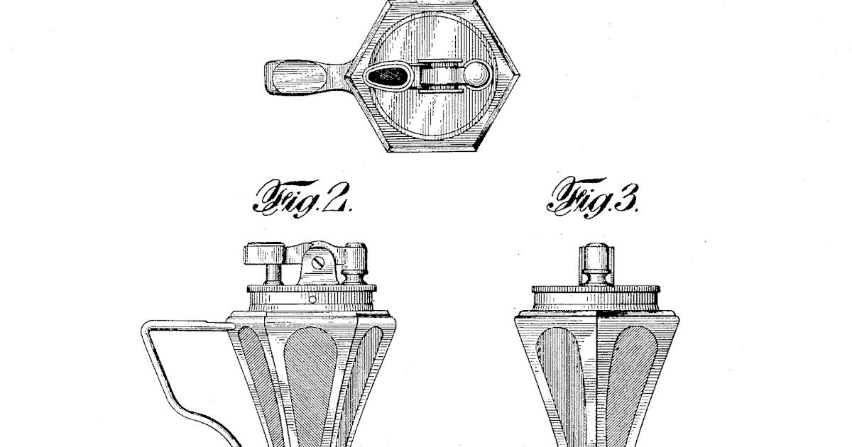 Table lighters collectors' guide: Patent: Ronson De-Light