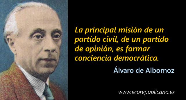 Pasado y presente de los republicanos, por Álvaro de Albornoz