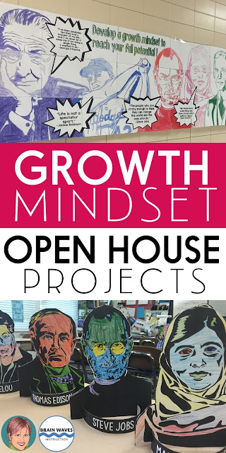 Open House and Growth Mindset go perfectly together!  Learn all about how combining an interactive growth mindset poster and 3D research projects can make your next Open House a success!  There's even an exclusive Growth Mindset freebie that you can leave out on students' desks during Open House!