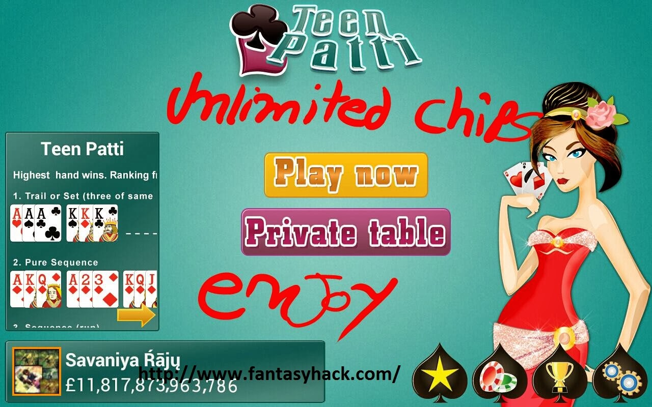 Download Free Octro Teen Patti Indian Poker Hack Unlimited Chips Or Money 100% working and Tested for IOS, Android And PC.