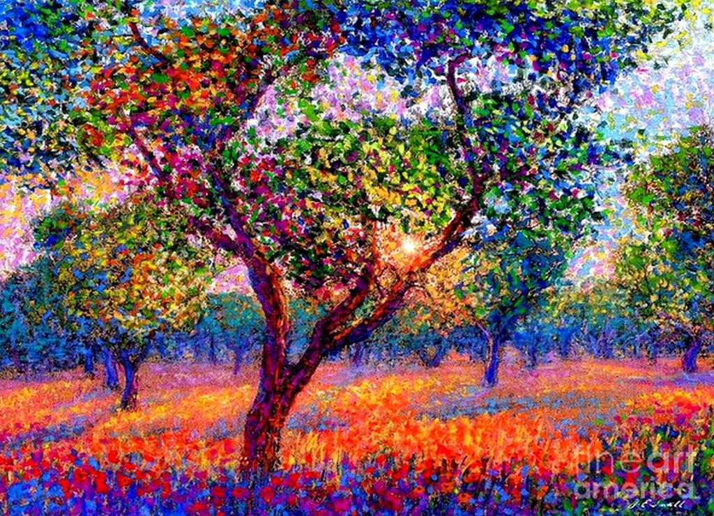 Cuadros pinturas oleos paisajes pintados con leo arte - Pintar un cuadro moderno ...