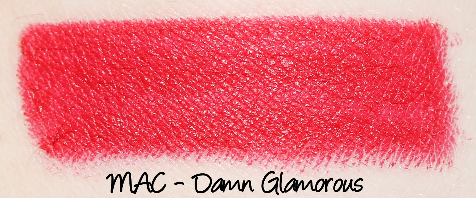 MAC Damn Glamorous Lipstick Swatches & Review
