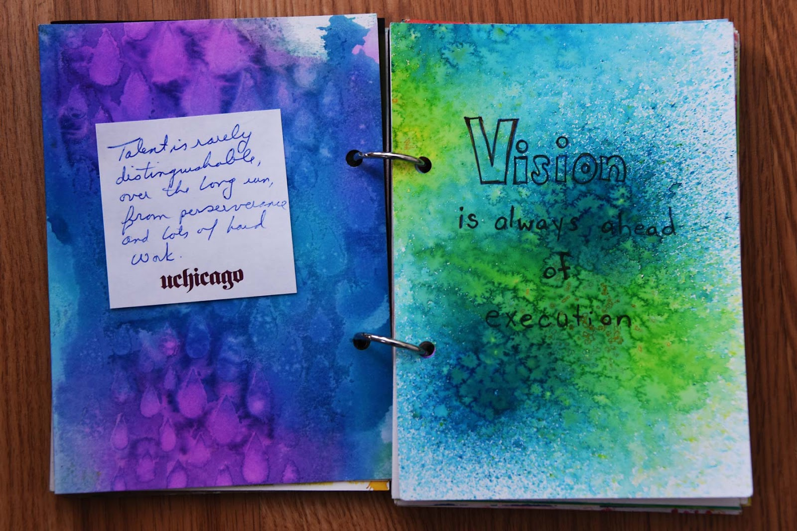 Art Journal page Vision