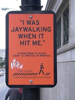 jaywalking car accident