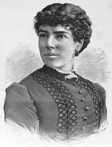 Retrato de Josefa Pujol de Collado (La Ilustración de la Mujer, 15-5-1884)
