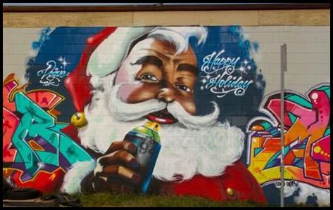 Graffiti Character Weihnachtsmann Graffiti Frohe Weihnachten