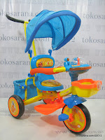 1 Sepeda Roda Tiga GoldBaby Pororo Eddy in Orange and Blue
