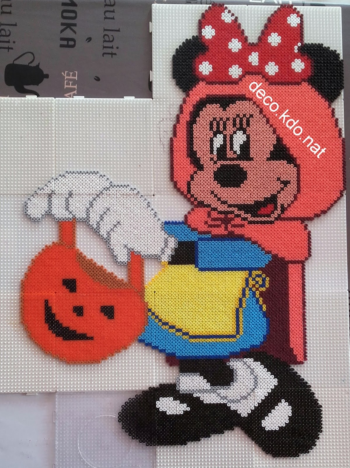 Decokdonat Perles Hama Minnie Chaperon Rouge D Halloween