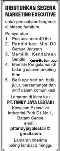 Lowongan Kerja PT. Tandy Jaya Lestari