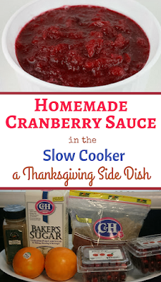 Make cranberry sauce easily at home in the crockpot slow cooker. You can make it days before and keep it in a sealed tupperware. You can also make large batches and freeze to use year round.