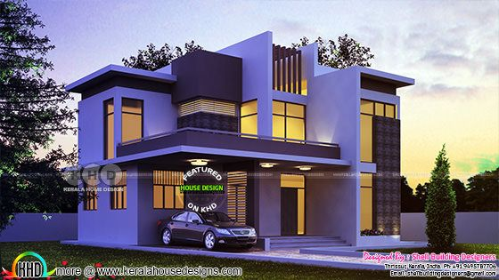 2600 square feet contemporary 4 bedroom Kerala home