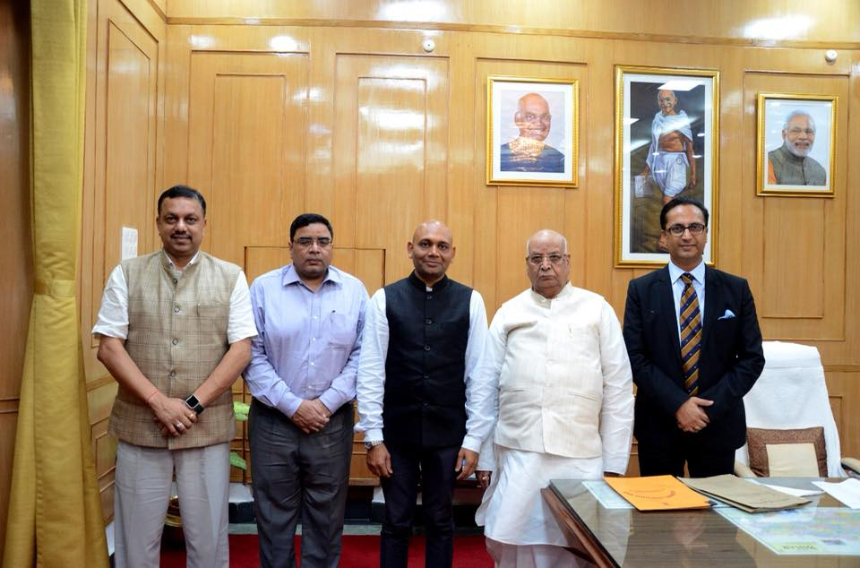Abhay K Meets The Governor And Deputy Chief Minister Of Bihar In Patna Sept 2018