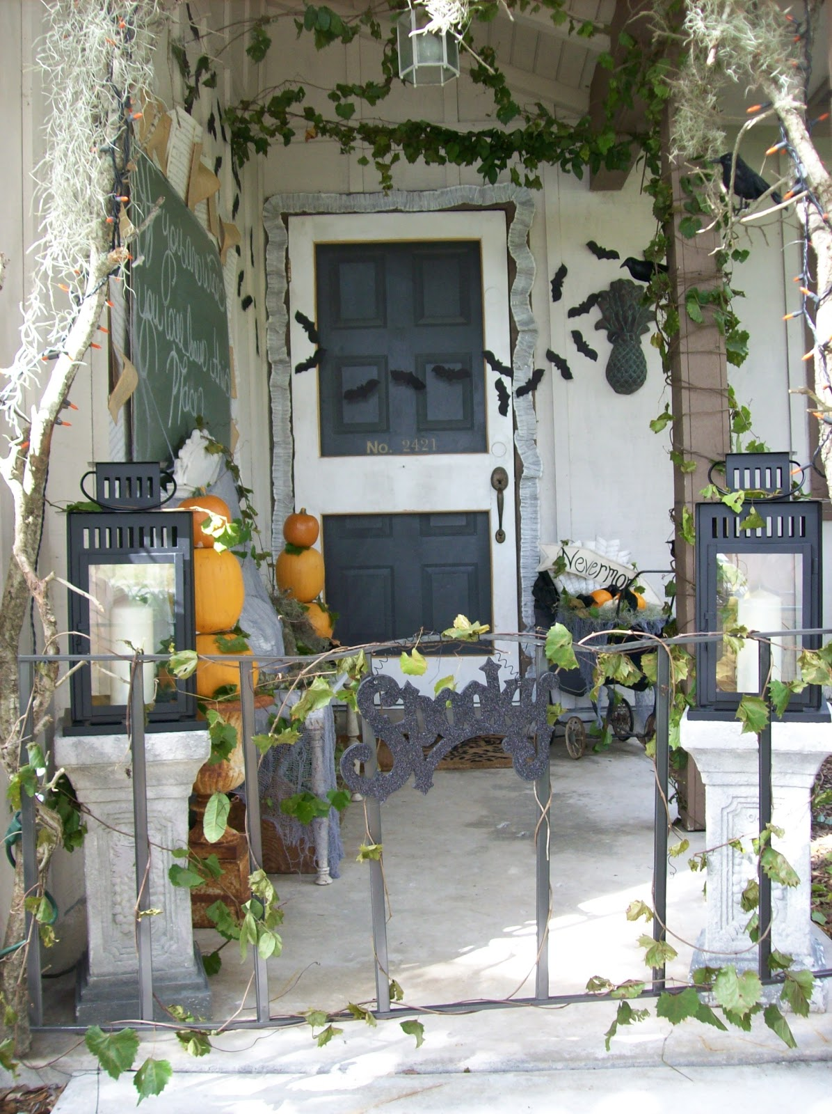 The Pineapple Room Halloween Front Porch