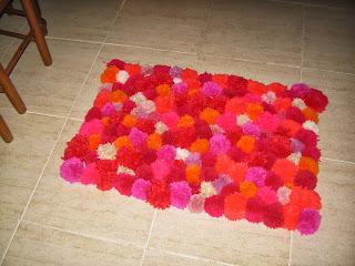 alfombra de pompones | manualidades